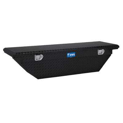 63 in. Aluminum Black Angled Single Lid Crossover Tool Box with Low Profile