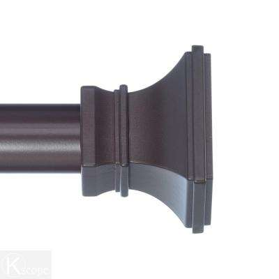 4 ft. Non-Telescoping Curtain Rod 1-1/8 in. in Oil Rubbed Bronze with Versailles Finials