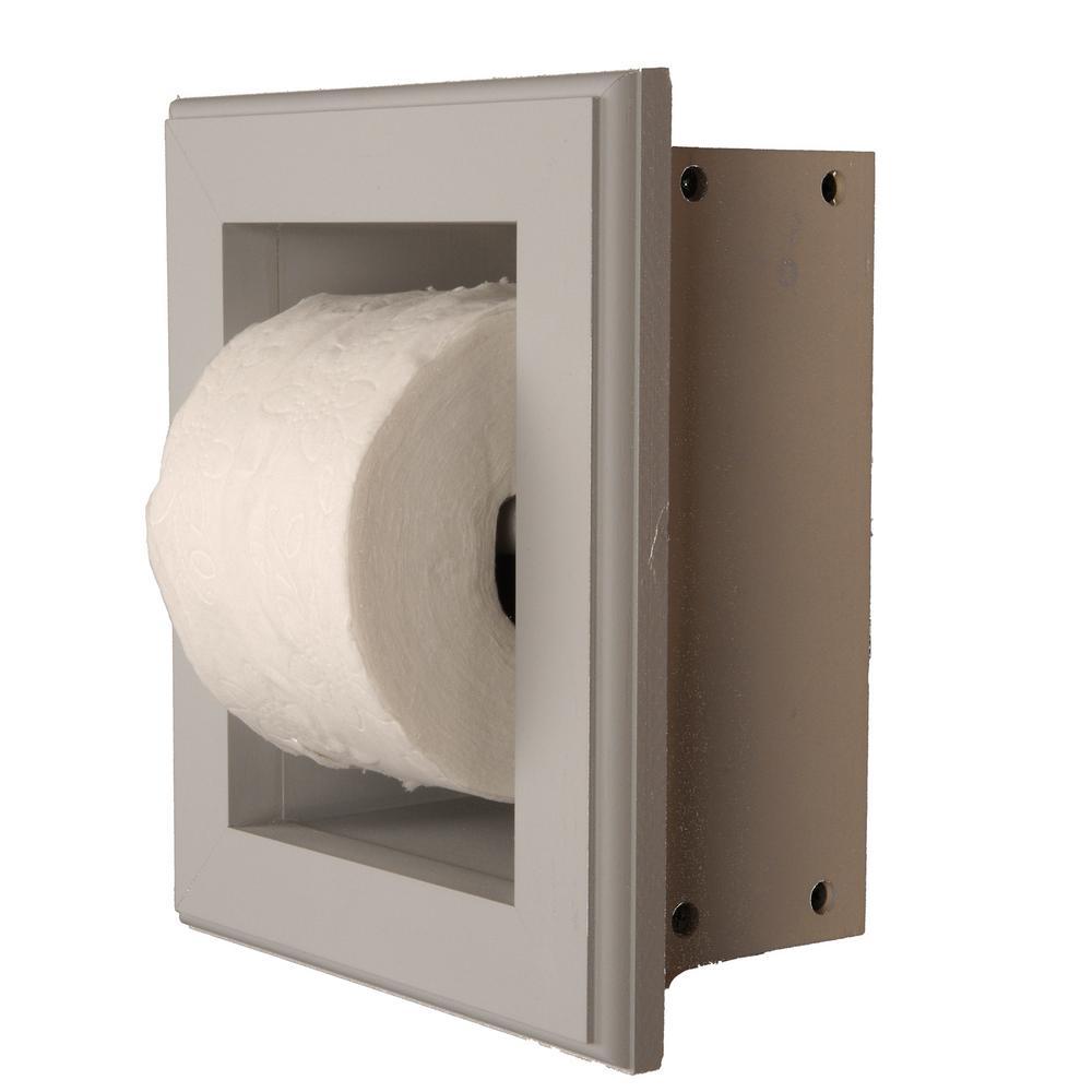 Newton Recessed Toilet Paper Holder 16 Holder in Primed in Niche ...