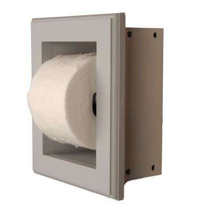 Newton Recessed Toilet Paper Holder 16 Holder in Primed in Niche Frame in Gray