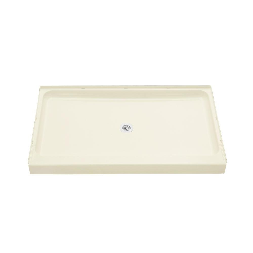STERLING Ensemble 60 in. x 34 in. Single Threshold Shower Base in Biscuit