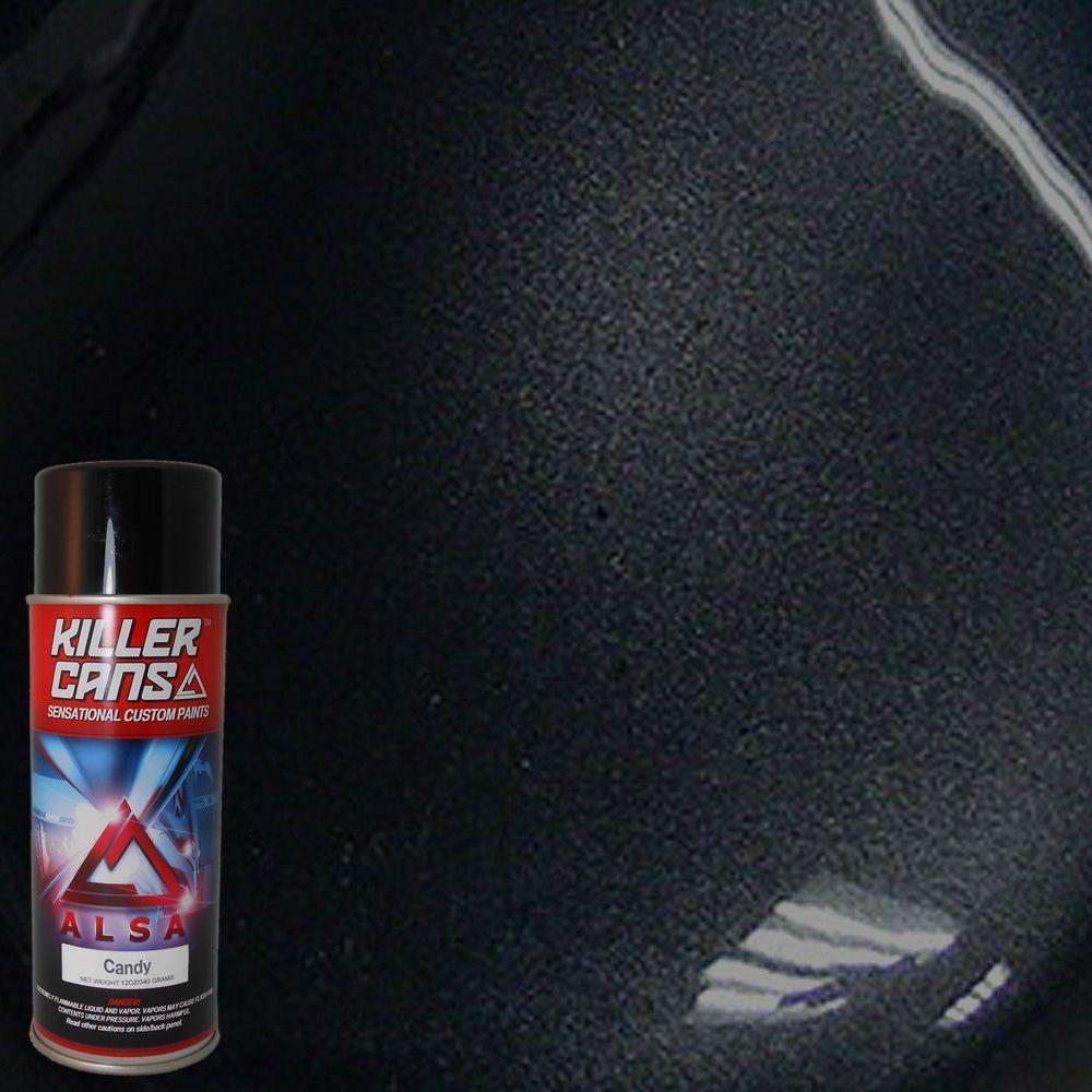 Alsa Refinish 12 oz. Candy Black Killer Cans Spray Paint