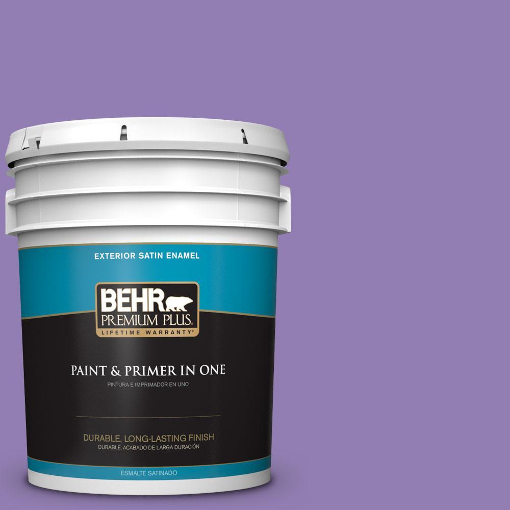 5 gal. #PPU16-04 Purple Agate Satin Enamel Exterior Paint