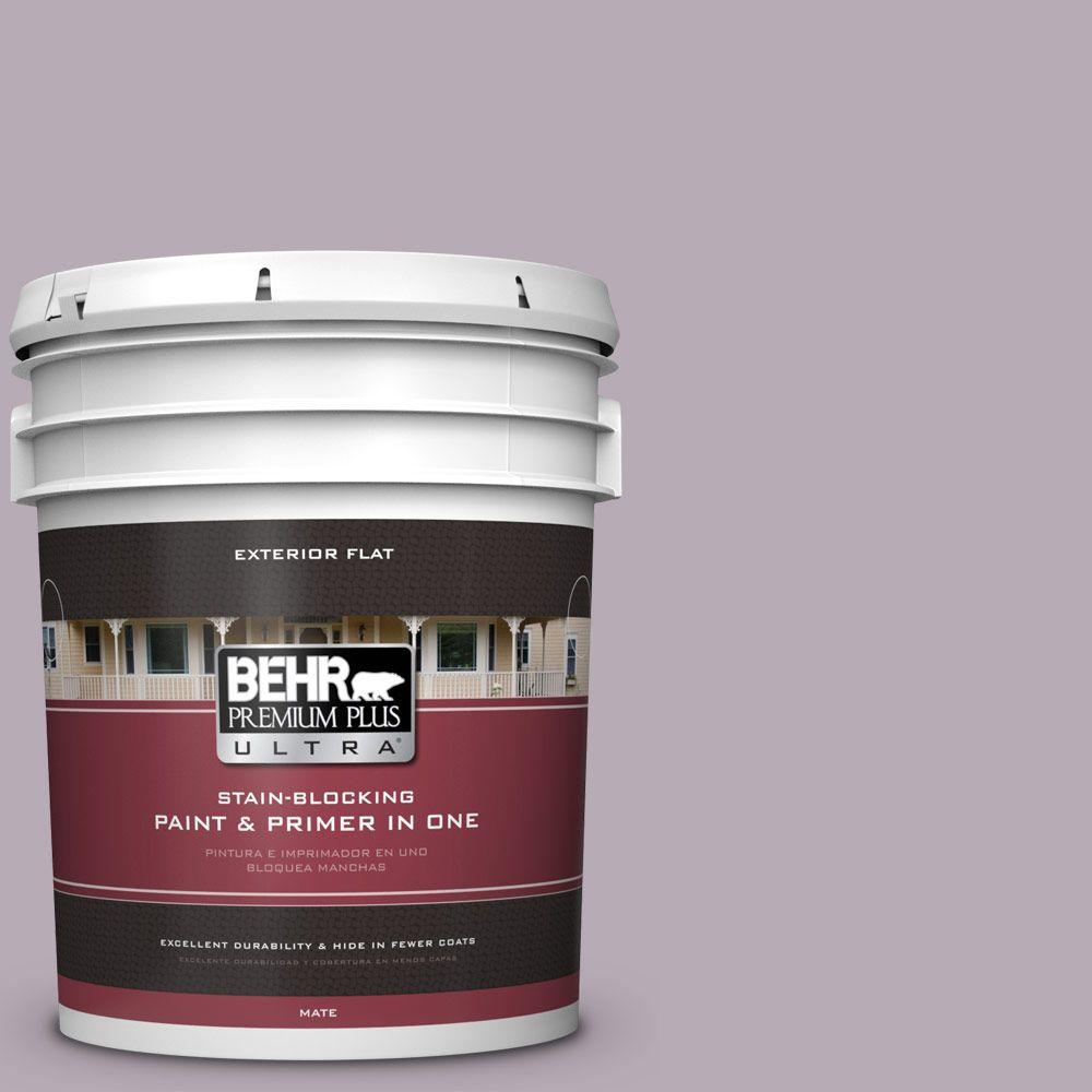 BEHR Premium Plus Ultra 5-gal. #670F-4 Silverberry Flat Exterior Paint