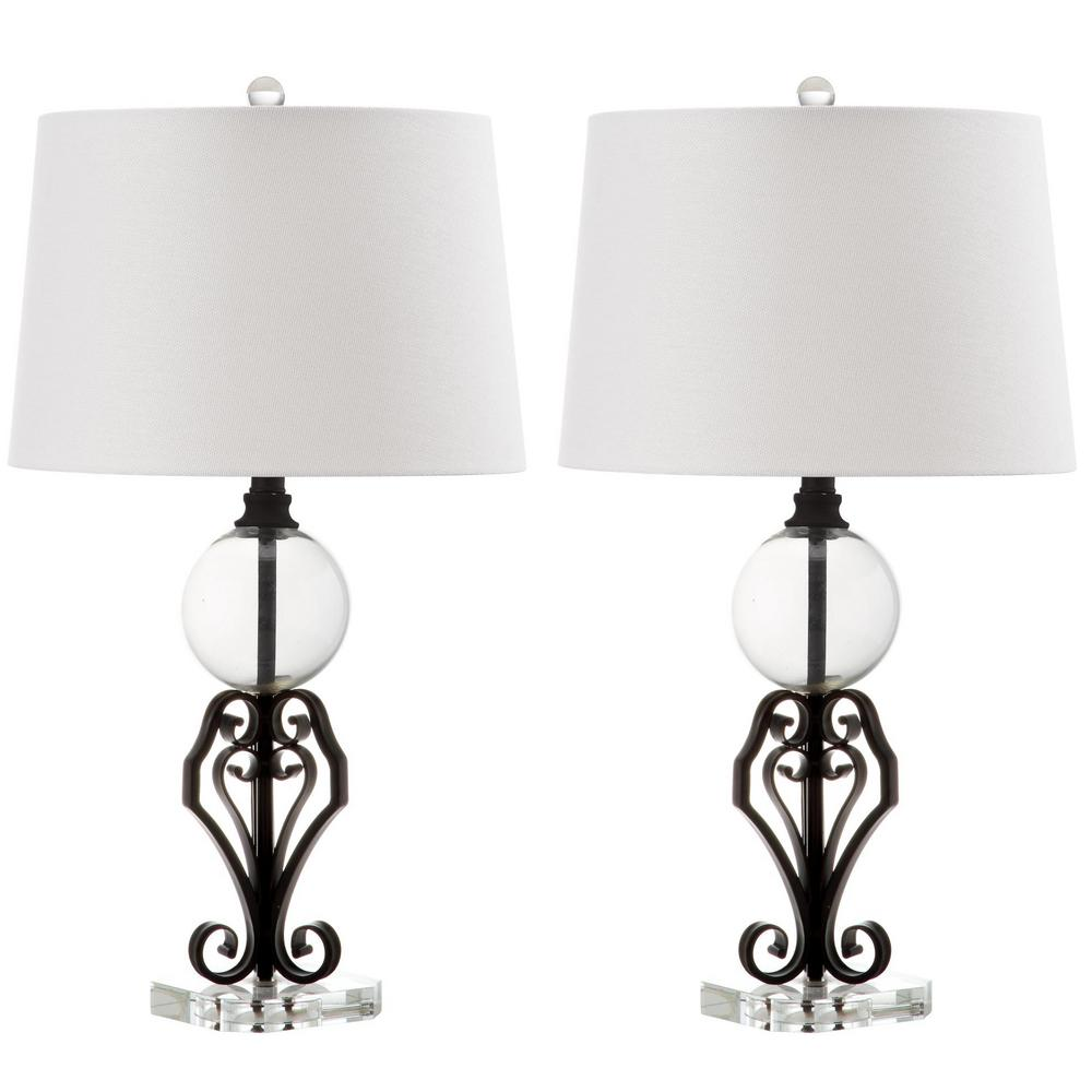 Safavieh Anderson 27 5 In Black Cream Table Lamp Set Of 2