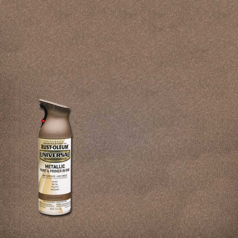 All Surface Metallic Aged Copper Spray Paint And Primer In One 261401 The Home Depot