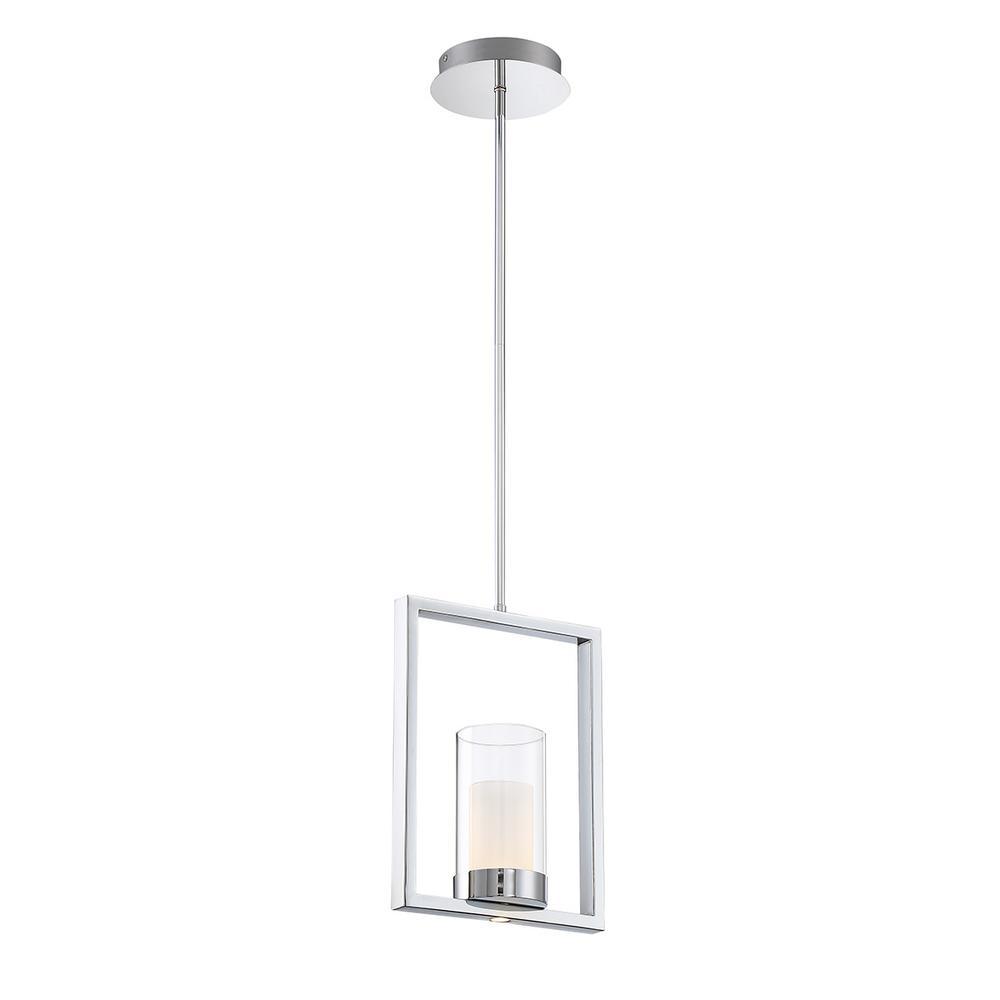 Home Decorators Collection 7-Watt Chrome Integrated LED Pendant