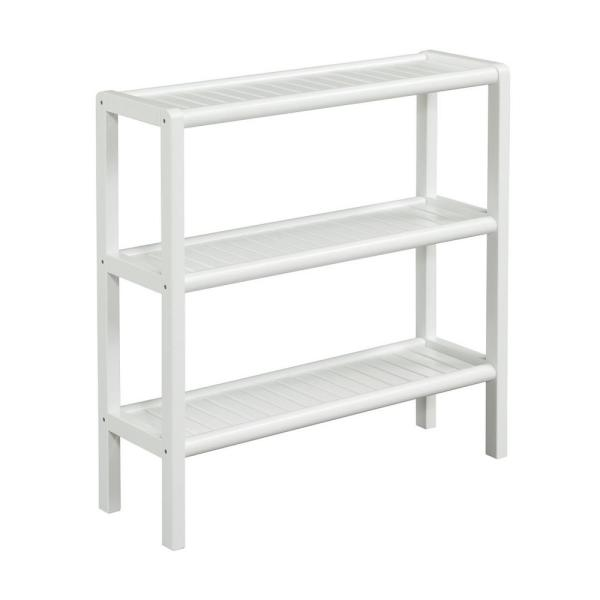 New Ridge Home Goods Abingdon White Bookcase 2207-WHT