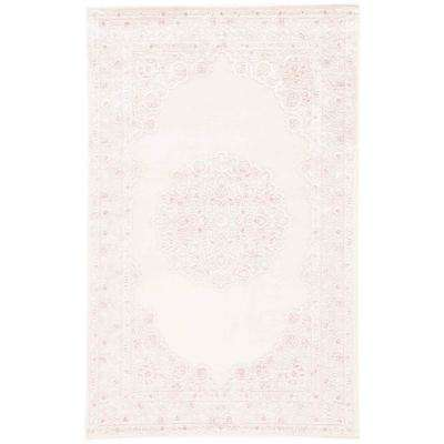 Fables Pink 9 ft. 6 in. x 13 ft. 6 in. Medallion Rectangle Area Rug