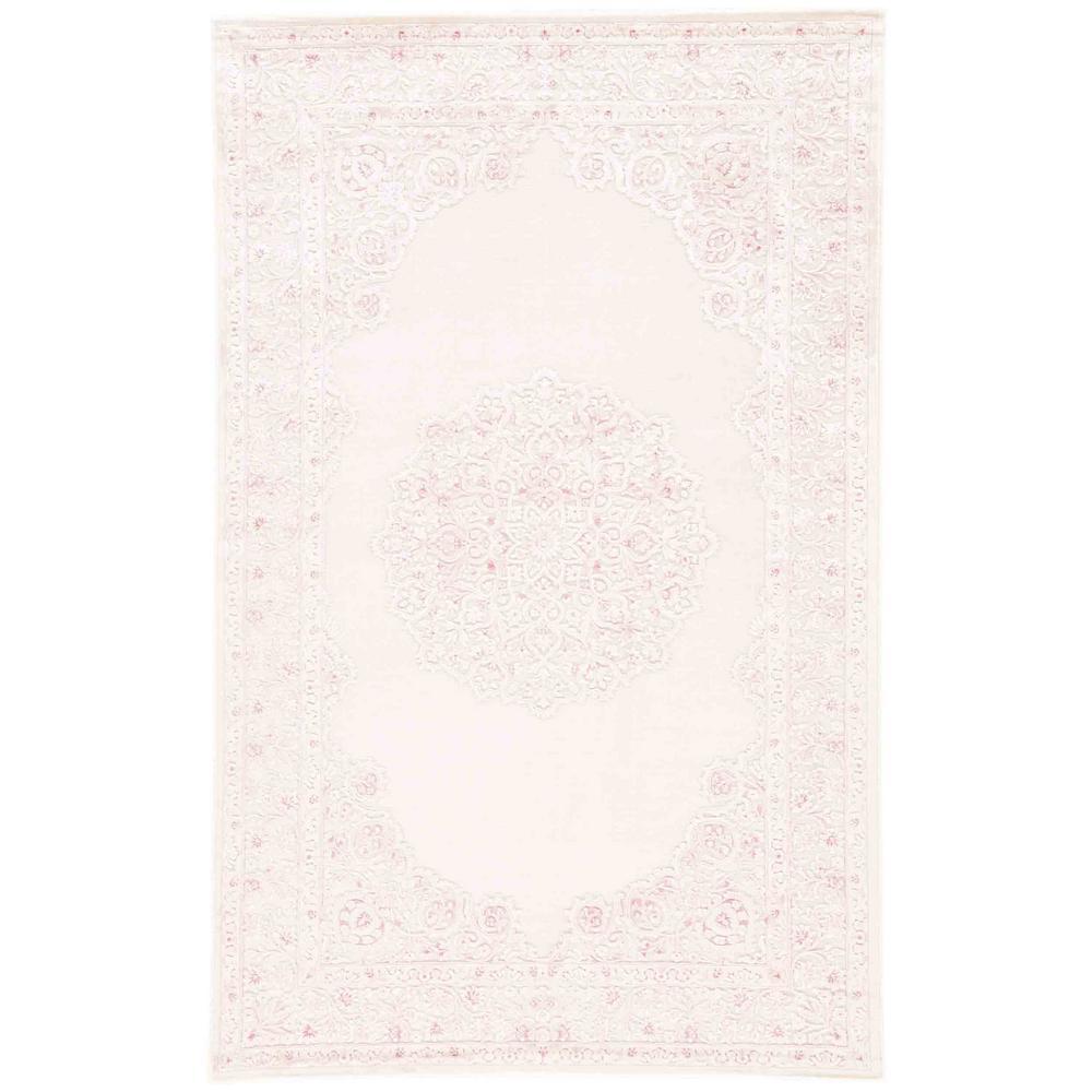 Fables Pink 2 ft. 6 in. x 8 ft. Medallion Runner Rug