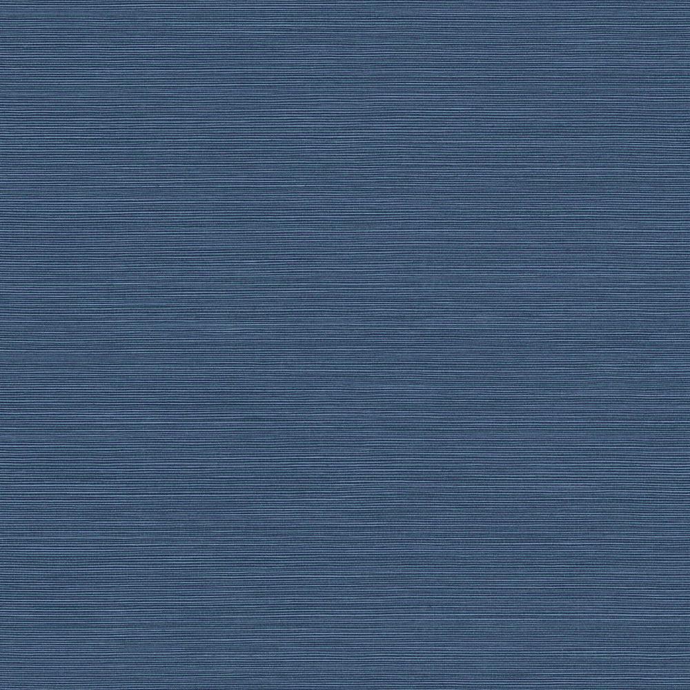 Coastal Hemp Ocean Blue Dreamy Embossed Vinyl Wallpaper