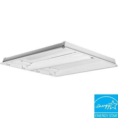 2-Light White Fluorescent Fixture Chassis
