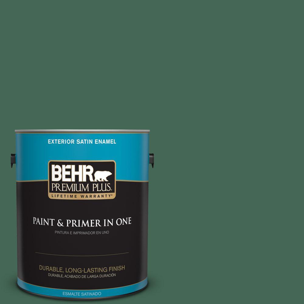 1-gal. #M420-7 Billiard Green Satin Enamel Exterior Paint