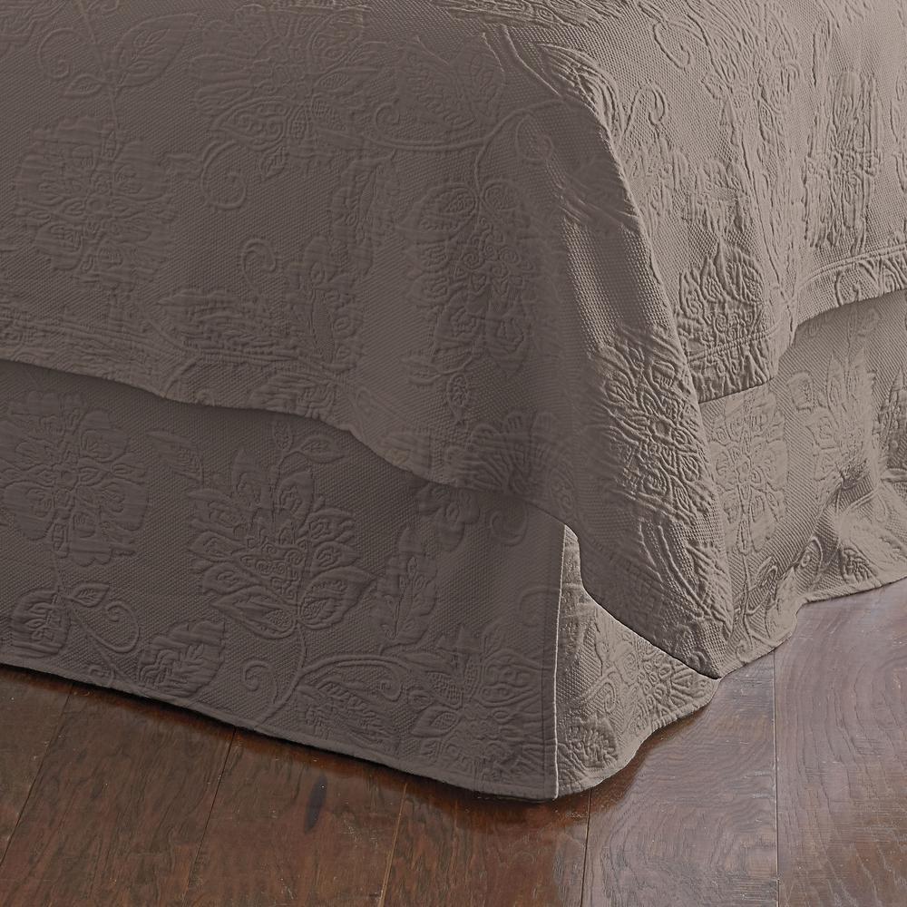 Putnam Matelasse Stone Twin Bed Skirt