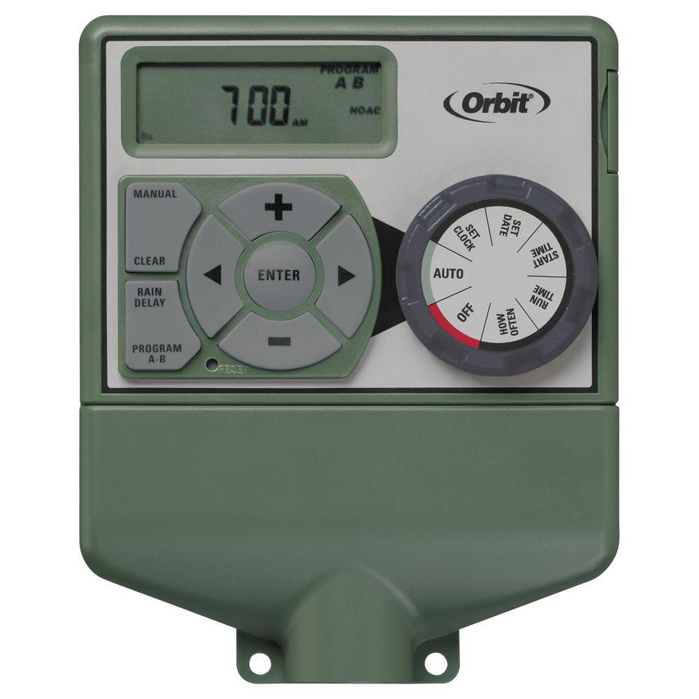 orbit 6 station easy dial sprinkler timer 57876 the home depot rh homedepot com