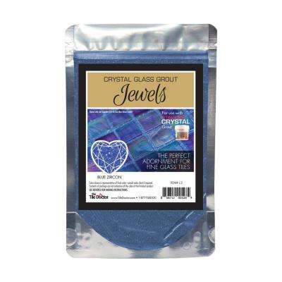 Crystal Glass Jewels Blue Zircon Additive