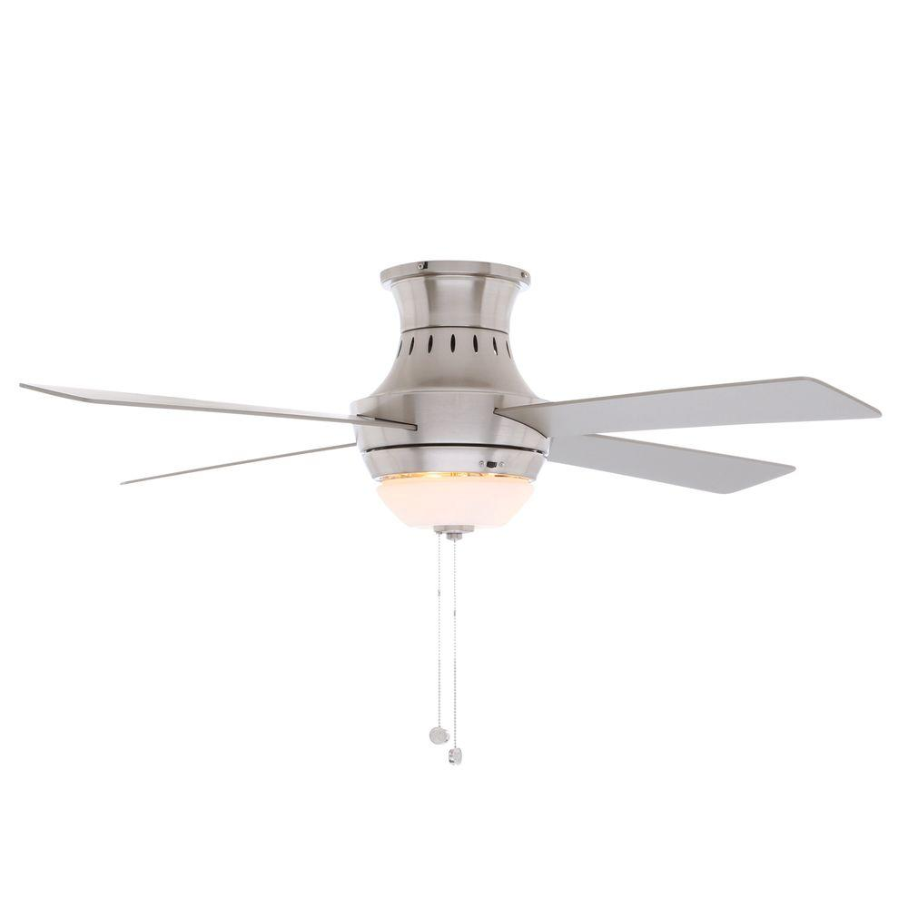 Hampton bay wentworth 52 in indoor brushed nickel ceiling fan hampton bay wentworth 52 in indoor brushed nickel ceiling fan with light kit mozeypictures Gallery
