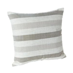 Brilliant Liza Taupe Striped 18 In X 18 In Throw Pillow Set Of 2 Gmtry Best Dining Table And Chair Ideas Images Gmtryco