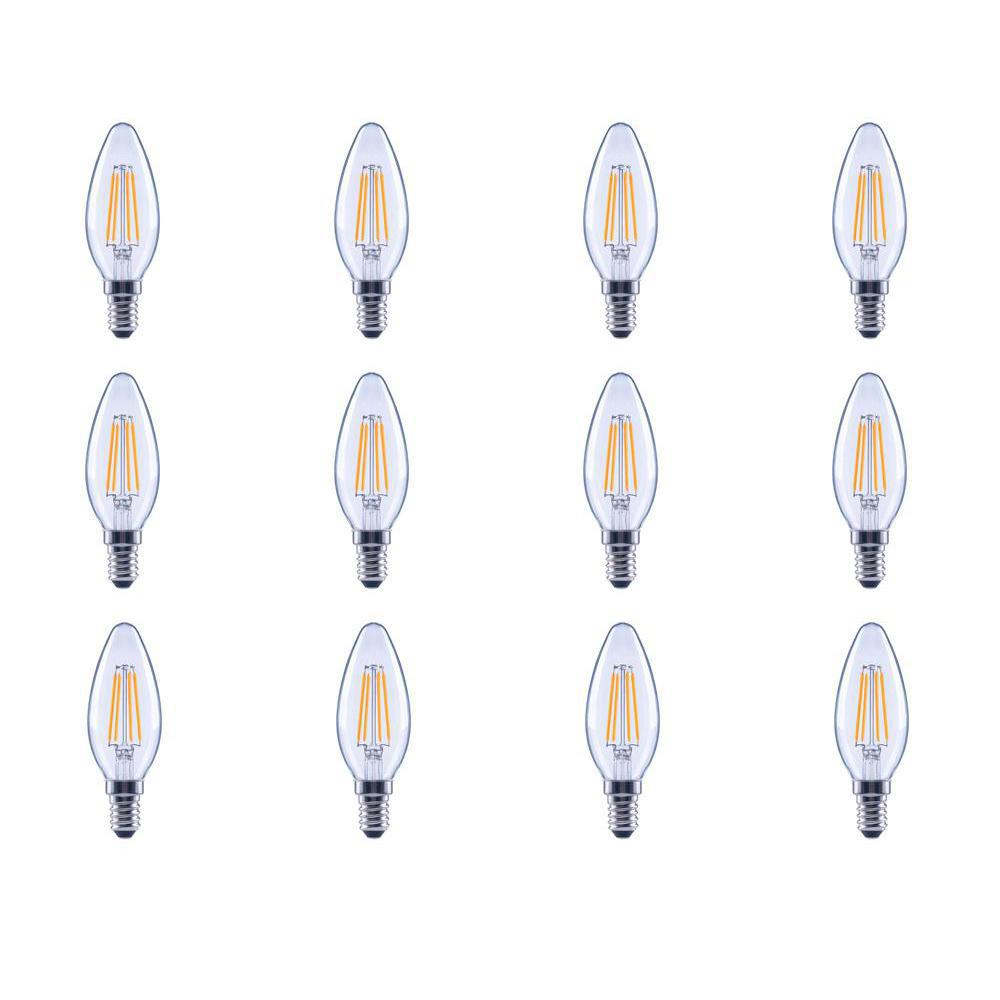 Ecosmart 40w Equivalent Soft White B11 Dimmable Filament: EcoSmart 40-Watt Equivalent B11 E12 Dimmable Filament