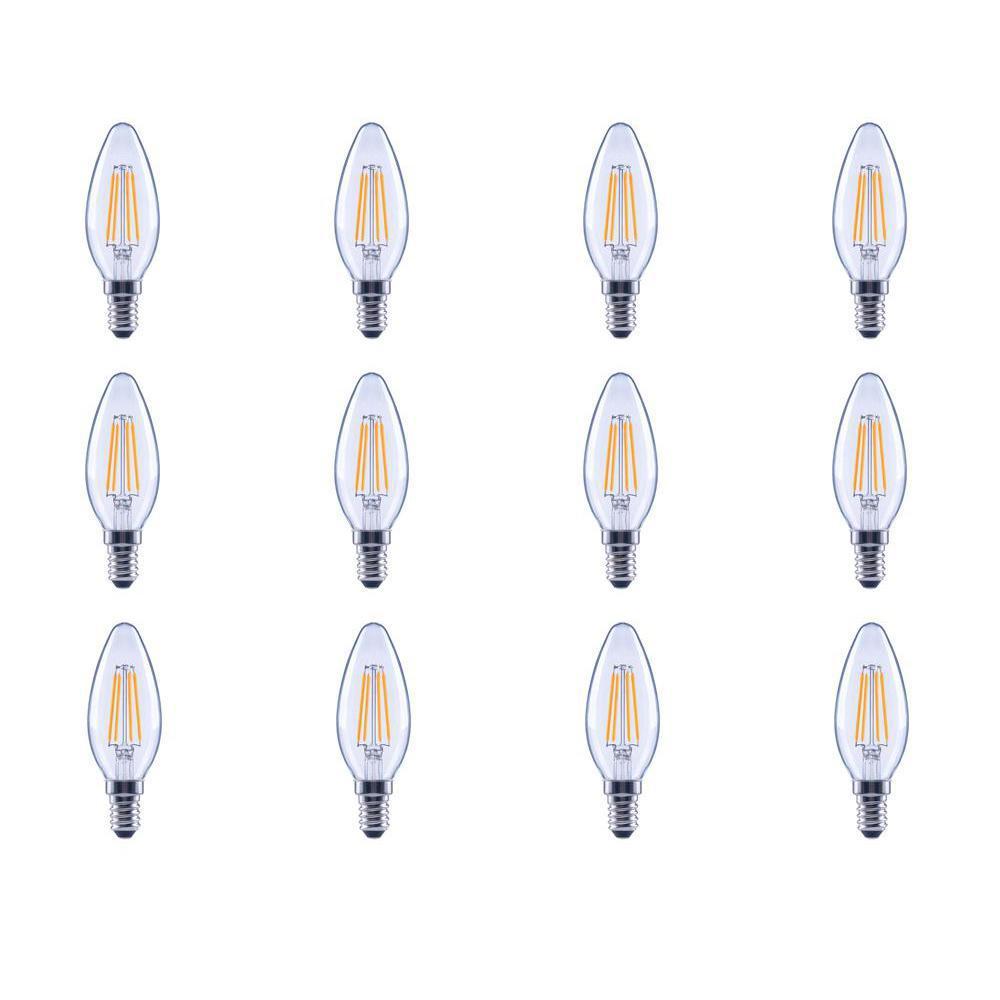 40 Watt Equivalent B11 E12 Dimmable Filament Clic Gl Candelabra Led Light Bulb Soft
