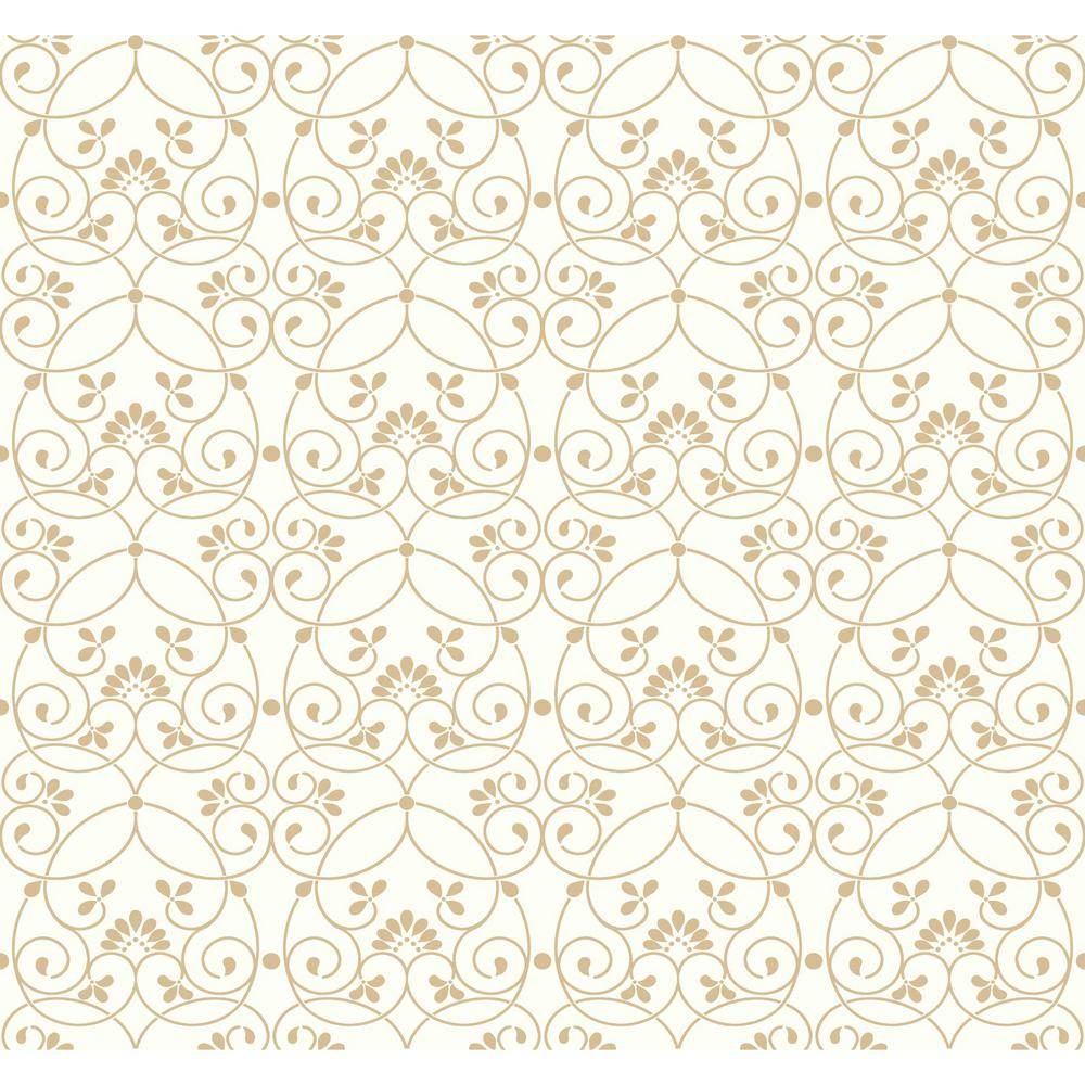 Growing Up Kids Glitter Scroll Removable Wallpaper, White...