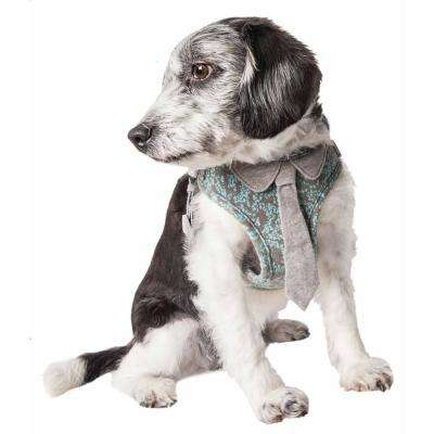 Fidomite Small Reversible and Adjustable Dog Harness with Neck Tie