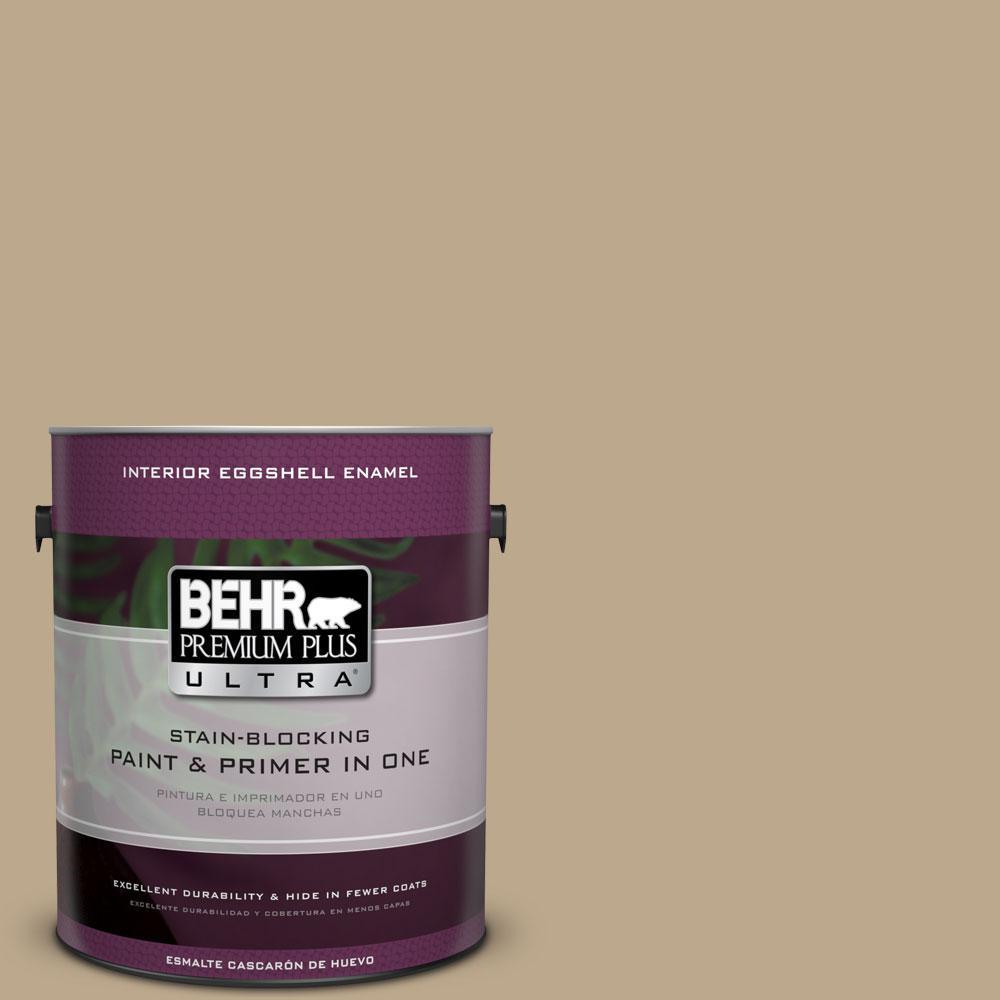 BEHR Premium Plus Ultra Home Decorators Collection 1-gal. #HDC-NT-16 Natural Chamois Eggshell Enamel Interior Paint