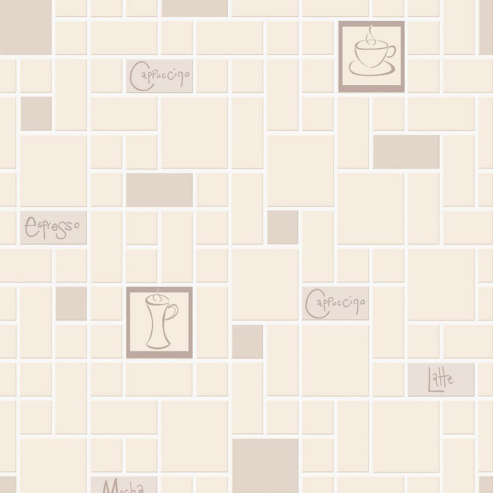 Graham Brown Strata Cafe Culture Beige Removable Wallpaper 15172