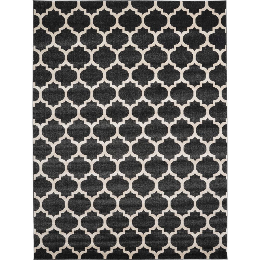 Trellis Philadelphia Black/Beige 9' 0 x 12' 0 Area Rug