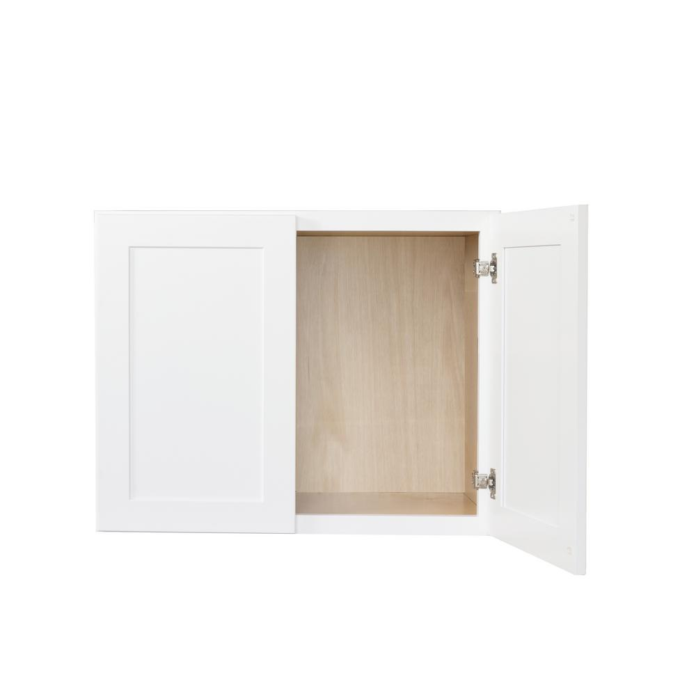 Bremen Ready To Emble 30x21x12 In Shaker High Double Door Wall Cabinet White