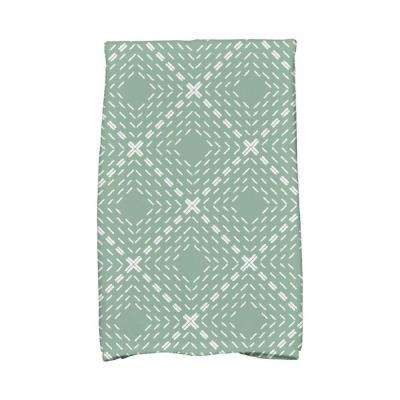 16 in. x 25 in. Green Dots and Dashes Geometric Print Kitchen Towels