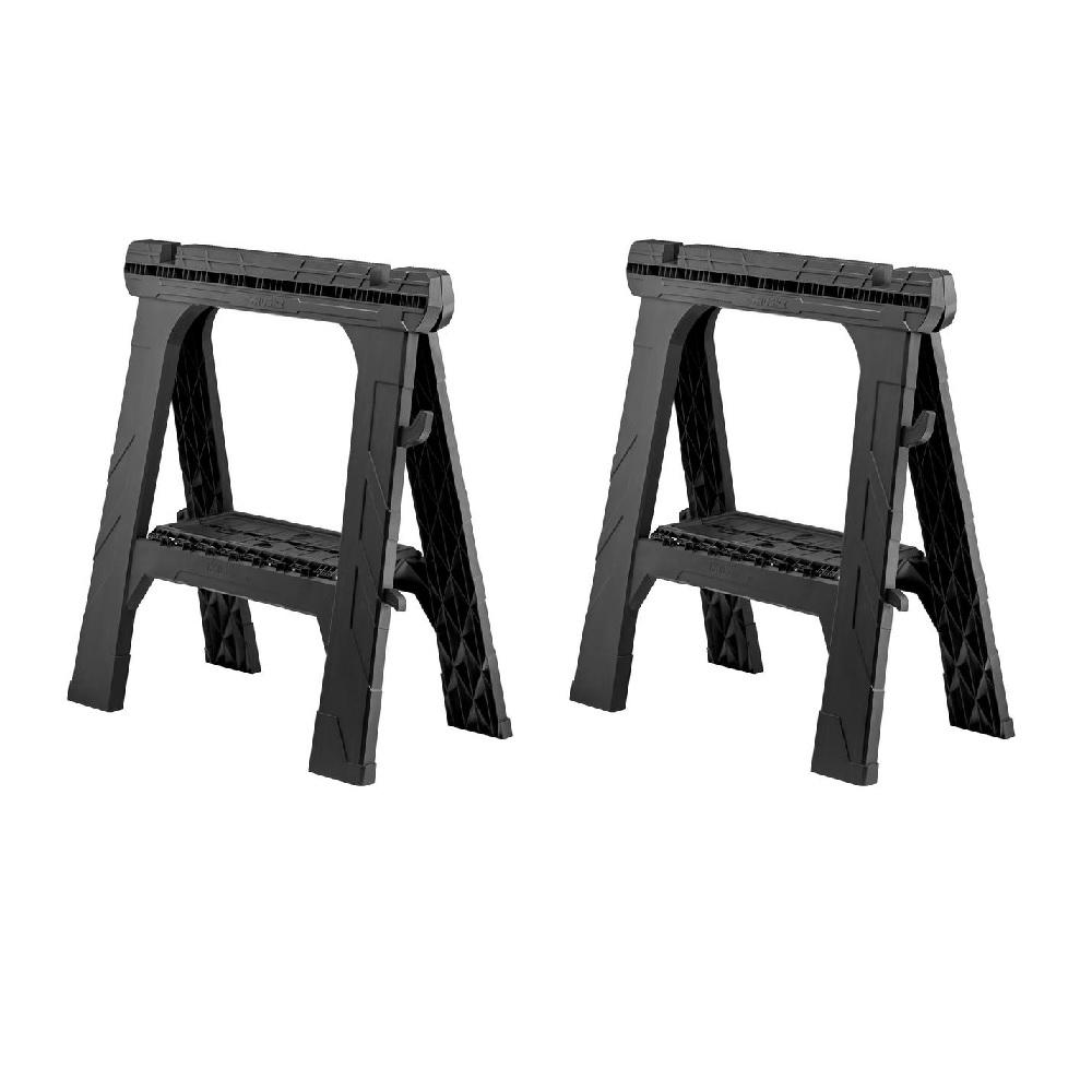 Husky 28 in. Folding Sawhorse (2-Pack)