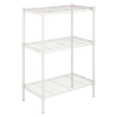 Suze 35 in. White 3-Shelf Wire Rack