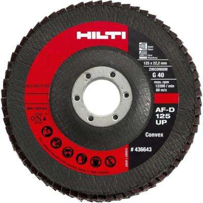 5 in. x 7/8 in. Grit 60 Type 29 Flap Disc Universal Premium Pack (10-Piece)