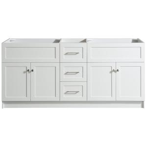 Hamlet 72 in. W x 21.5 in. D x 33.5 in. H Bath Vanity Cabinet Only in White