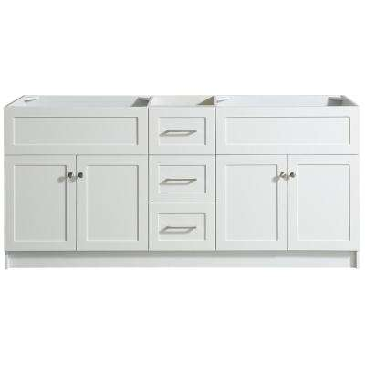 72 Inch Vanities and Larger - White - Double Sink ...