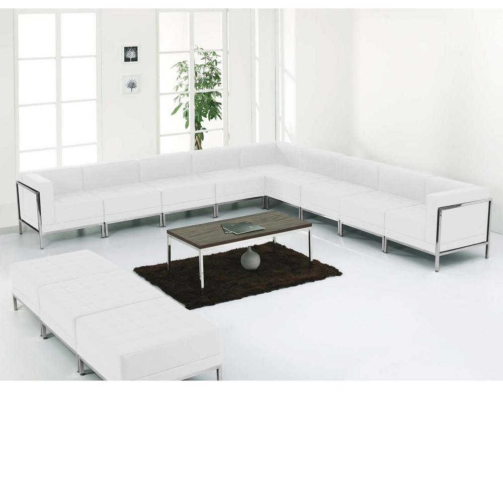 Flash Furniture Hercules Imagination Series White Leather Sectional ...