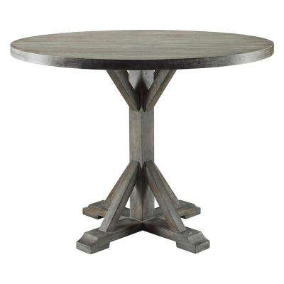 Carmelina Weathered Gray Oak Dining Table