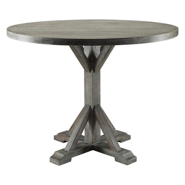 Acme Furniture Carmelina Weathered Gray Oak Dining Table 70245