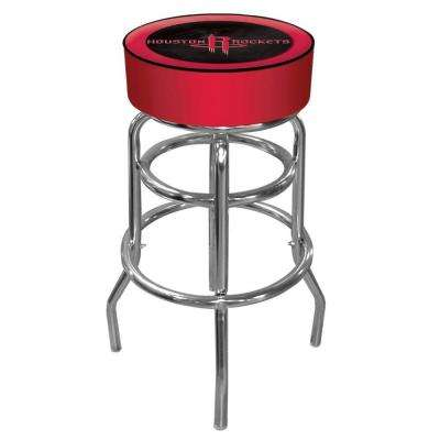 Houston Rockets NBA 31 in. Chrome Padded Swivel Bar Stool