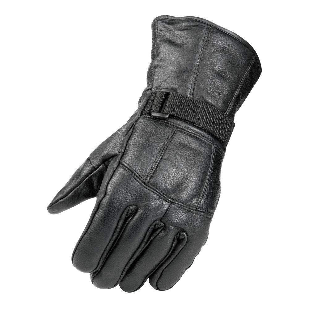 Raider All Season Leather X Large Black Glove, Size: XL