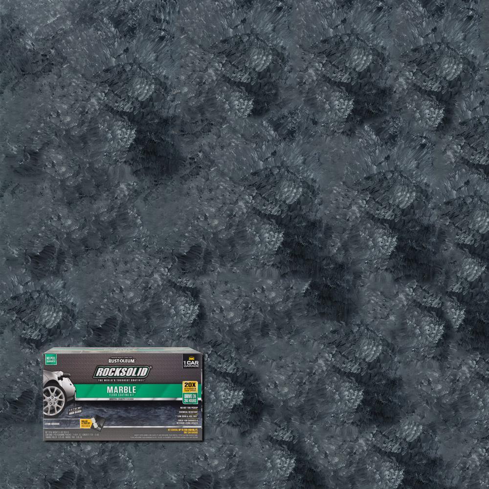 Marble Stone Obsidian Garage Floor Kit