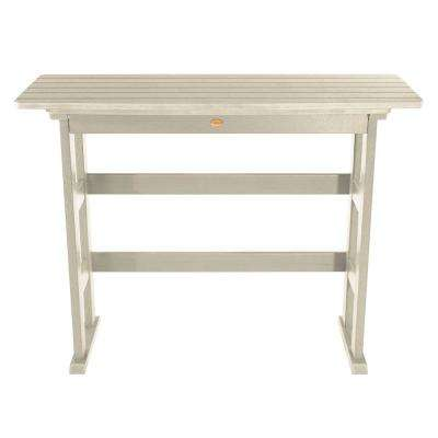 Lehigh Whitewash Rectangular Recycled Plastic Outdoor Bar Height Dining Table