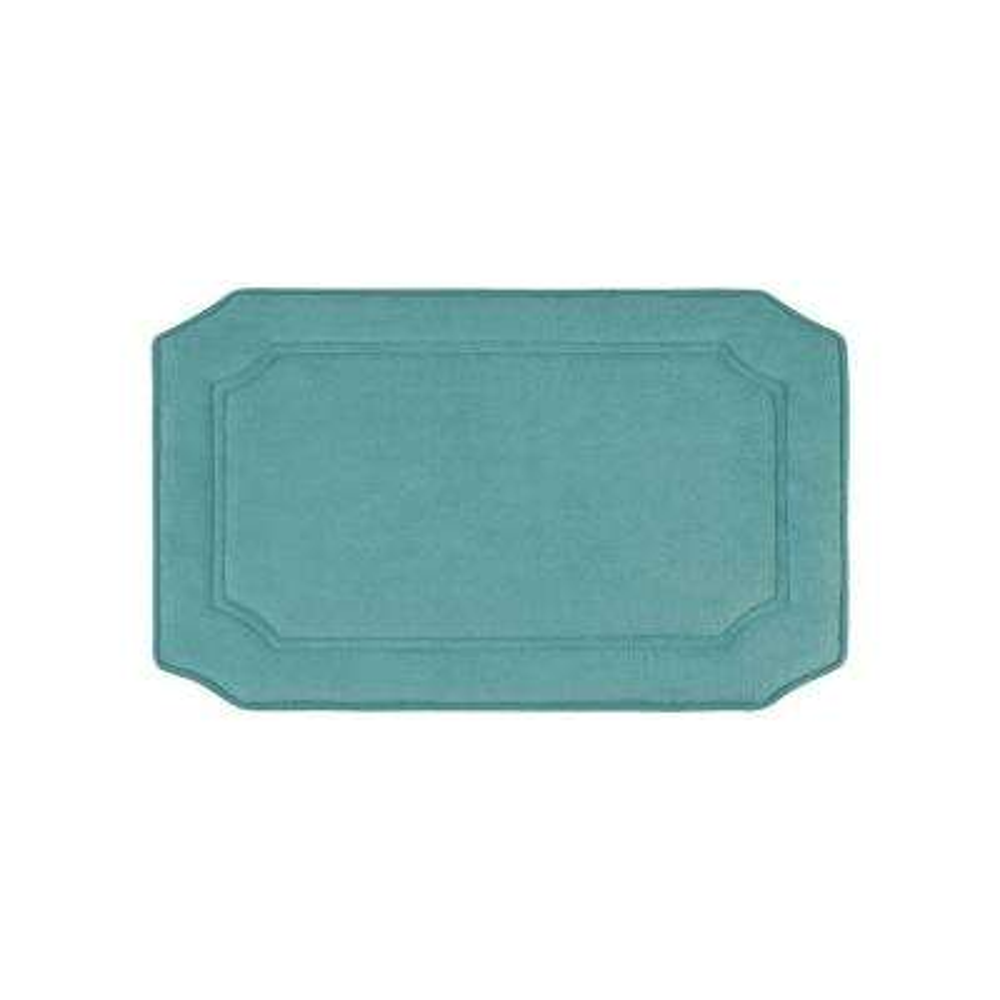 Walden Premium Extra Thick Micro Plush Marine Blue 17 in. x 24 in. Memory Foam Bath Mat