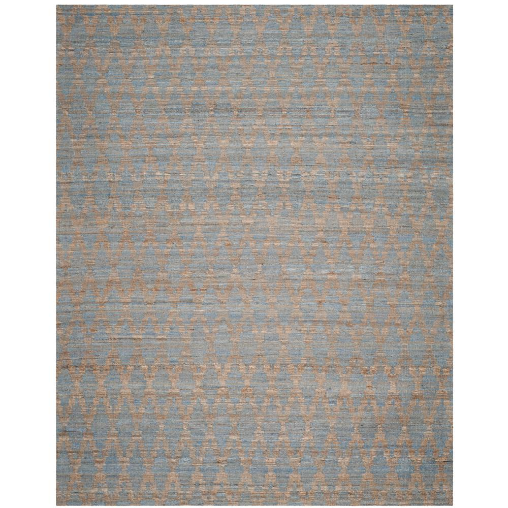 Cape Cod Light Blue Gold 8 Ft X 10 Area Rug
