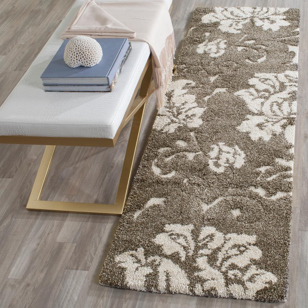 Florida Shag Smoke/Beige 2 ft. 3 in. x 7 ft. Runner