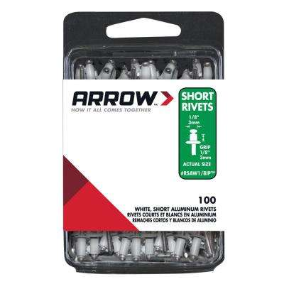 1/8 in. Aluminum Short Rivets (100-Pack)