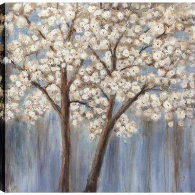 White Poppy Trees II, Landscape Art, Unframed Canvas Print Wall Art 24X24 Ready to hang by ArtMaison.ca