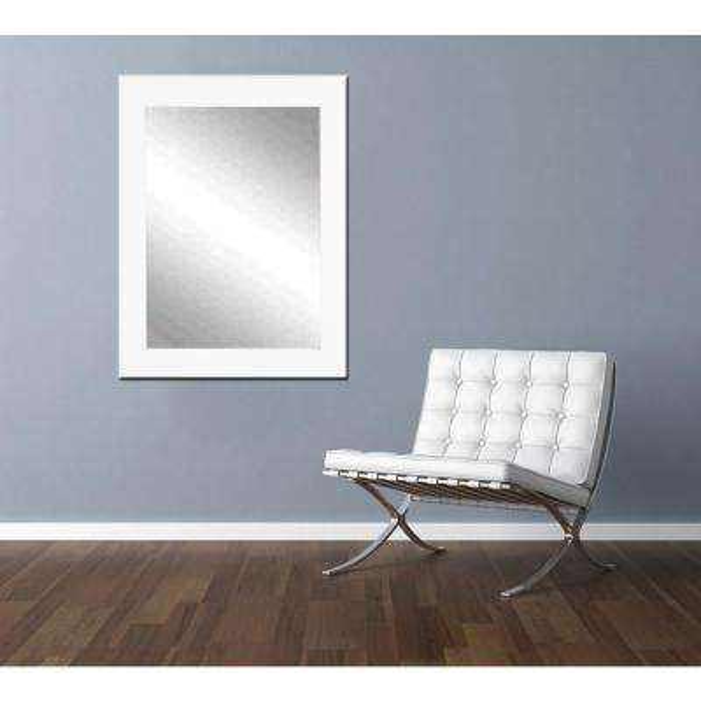 Classic White Framed Mirror