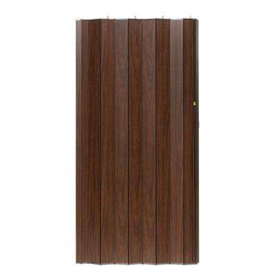 36 in. x 96 in. Woodshire Vinyl-Laminated MDF Walnut Accordion Door